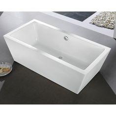 Eviva Rachel 60 in. Freestanding Soaking Bathtub - EVTB6206-59WH