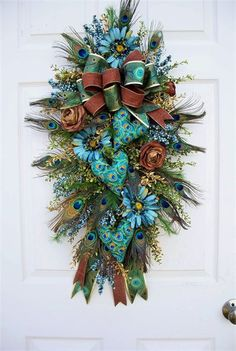 Wreath alternative. Timeless Floral Creations. Holiday, wreath, swag, floral, flowers, door decoration