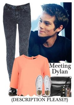"""""""Meeting Dylan O'Brien (DESCRIPTION PLEASE!)"""" by courtneycarson3 ❤ liked on Polyvore featuring Forever 21, Topshop and Converse"""