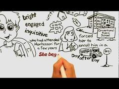"""Montessori Madness!"" A Parent to Parent Argument for Montessori Education (cool fast draw video by Trevor Eissler #Montessori"
