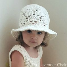 Vintage Sun Hat (Infant - Child) Crochet Pattern - The Lavender Chair