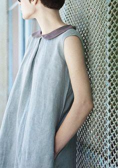 Epitome of an English-summer dress. #linen