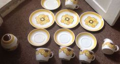 STAVANGERFLINT INGER WAAGE COFFEE SET in Scandinavian   eBay Stavanger, Coffee Set, Norway, Scandinavian, Pottery, Tableware, Ebay, Scale, Ceramica