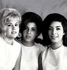 The Honeys (Ginger Blake, Diane & Marilyn Rovell) were unusually an all-girl West Coast surfer group - in the early '60s 'honey' was the slang term for a girl surfer : they recorded four little-known singles in 1963/4, but were better known for backing the Beach Boys and Jan & Dean in the studio and on stage. Marilyn married Brian Wilson of the Beach Boys : their daughters Carnie and Wendy later formed another girl group Wilson Phillips