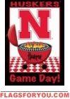 Game Day - Nebraska Garden Flag