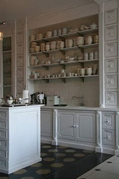Look at all of this great kitchen storage - Scandi style