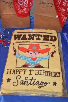 cowboy cakes for kids birthday Western Theme Cakes, Western Birthday Cakes, Cowboy First Birthday, Rodeo Party, Cowboy Theme Party, Abc Party, Cowboy Cakes, 6th Birthday Parties, Birthday Ideas
