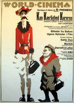 Movie poster by Sven Brasch (1886-1970), 1923, Kan Kaerlighed Kureres. (Swedish)
