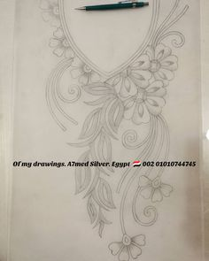 - 👑Of my drawings 🌸 🌸 Silver Egypt. Hand Embroidery Design Patterns, Kurti Embroidery Design, Embroidery Motifs, Bead Embroidery Jewelry, Embroidery On Kurtis, Hand Embroidery Dress, Embroidery Fashion, Ribbon Embroidery, Motifs Perler