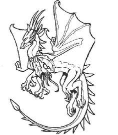Drachen 11 Ausmalbilder