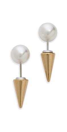 Fallon Jewelry Swarovski Imitation Pearl Microspike Earrings | SHOPBOP Extra 25% Off Sale Styles Use Code: SCORE17