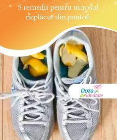 5 remedii pentru mirosul neplăcut din pantofi   Dacă deodorantele din comerț nu funcționează în cazul tău și cauți anumite soluții naturale, încearcă aceste remedii pentru mirosul neplăcut din pantofi. Deodorant, Sneakers Nike, Cleaning, Shoes, Loosing Weight, Nike Tennis, Zapatos, Shoes Outlet, Shoe