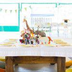 Kid table from a Safari Themed Birthday Party via Kara's Party Ideas | KarasPartyIdeas.com (1)