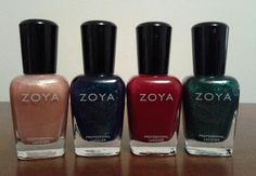 Zoya polish used for all manicures and pedicures