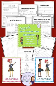 French passé composé verb packet with avoir and être is a perfect resource for French beginners and for advanced review. There is an all-French version as well!  This is a great resource complete with student notes and activities with directions in French and English or in French only to help your students master or review avoir and être verbs. Click here to see more!