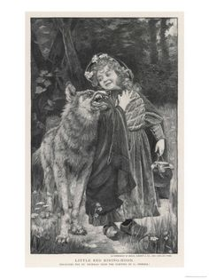 Red Riding Hood Smiles Down on the Wolf.