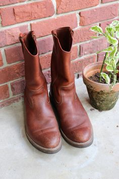 vintage LL Bean men's work boots motorcycle boots by brolliarfound, $100.00