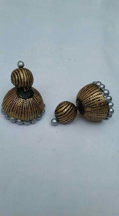 Teracotta Jewellery, Terracotta Jewellery Designs, Terracotta Earrings, Quilling Jewelry, Jewellery Making, Jewelery, Cufflinks, Fashion Jewelry, Jewelry Design