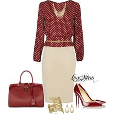 A fashion look from July 2013 featuring Bea Yuk Mui blouses, Christian Louboutin pumps und Yves Saint Laurent handbags. Browse and shop related looks. Business Mode, Business Outfits, Business Fashion, Mode Outfits, Fall Outfits, Fashion Outfits, Womens Fashion, Fashion Trends, Work Fashion