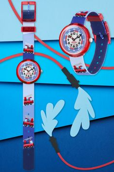 FIRETRUCK (ZFBNP160) is a Swiss watch for kids that is guaranteed to spark their imagination while they learn to tell the time. Combining brilliant blue with radical red, this kids watch is both Swiss made and BPA free for complete peace of mind. The perfect gift for kids who like to dream big with shiny fire trucks zooming over the strap. Swiss Watch, Firetruck, Telling Time, Peace Of Mind, Dream Big, Gifts For Kids, Imagination, Swatch, Clock