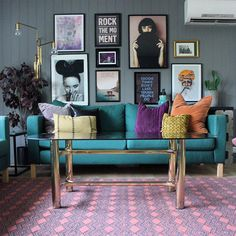 House Tour: A Colourful Open-Plan Apartment in Norway House Tour: House Tour: Colourful apartment- eclectic living room with vibrant accessories Living Room Designs, Apartment Living Room, Living Decor, Colourful Living Room Decor, Interior Design, Home Decor, Eclectic Home, House Interior, Apartment Decor
