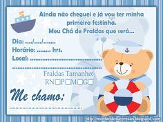 convite de cha de bebe ursinho - Pesquisa Google