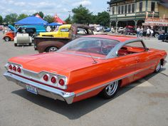 Jack Matia's custom 1963 Impala SS. This car is a true eye-catcher because of the striking roof – obviously not the stock one for the car. Its from a 1960 Plymouth!