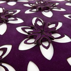 Folded flower cushion detail