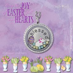 Happy Easter from South Hill Designs - It's A Charmed Life! #happyeaster #easterlocket #shdcharmedlife