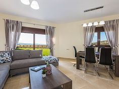 Rethymno villa rental - Direct access to the pool and garden from the living room.