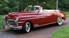 1949 DeSoto Custom Convertible Coupe Maintenance/restoration of old/vintage vehicles: the material for new cogs/casters/gears/pads could be cast polyamide which I (Cast polyamide) can produce. My contact: tatjana.alic@windowslive.com
