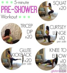 12. #5-Minute Pre-Shower #Workout - Flabby to Fit in 5, with #These Magical 5-minute #Workouts ... → #Fitness #Minute