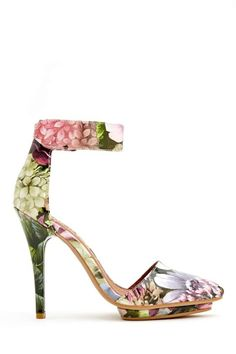 Jeffrey Campbell 'Solitaire' Patent Green & Pink Floral Pump
