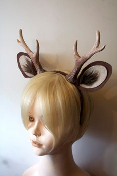 Faun 6 Antlers and Ears Headband / Deer Cosplay / by WhitefoxHats theyu0027re : deer costume ears  - Germanpascual.Com