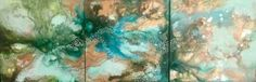 "Saatchi Art Artist Amy Floyd; Painting, ""Oasis Triptych"" #art"