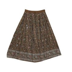 "Amazon.com: Bohemian Skirt, Retro Hippie Skirt, Brown Floral Printed Peasant Skirts 36"": Clothing $24.99"