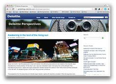 Exemplo de Blog B2B Deloitte | Indiga