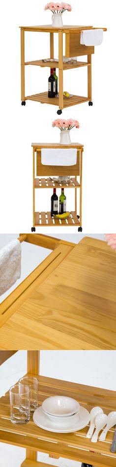 Elegant Chrome Bakers Rack with Wood Cutting Board