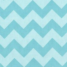 RETRO Riley Blake CHEVRON Aqua Tone on Tone Fabric FAT QUARTER Funky FQ BLUE Mod