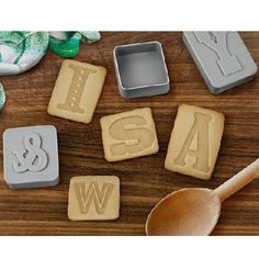 cookie press, gift ideas, food, letter press, letterpress cooki, kitchen, cookie cutters, letters, cooki cutter