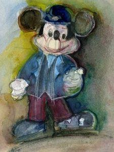 Rifkin - Aceo - Disney, Cool Mickey Mouse - Digital Art Card