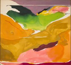 """Helen Frankenthaler's """"Nature Abhors a Vacuum,"""" 1973. Patrons' Permanent Fund and Gift of Audrey and David Mirvish, Toronto, Canada. National Gallery of Art, Washington. Credit Helen Frankenthaler/Artists Rights Society (ARS), New York — via National Gallery of Art"""