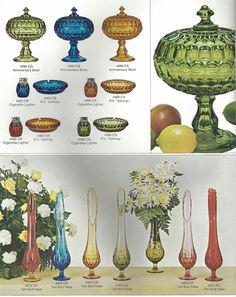Fenton Glassware, Crystal Glassware, Antique Glassware, Cut Glass, Glass Art, Colored Vases, Antique Stoneware, Vintage Kitchenware, Stained Glass Designs