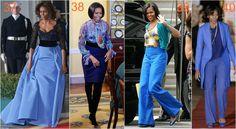 michelle obama błękit Waist Skirt, High Waisted Skirt, Michelle Obama, Parachute Pants, Skirts, Fashion, Moda, High Waist Skirt, Skirt