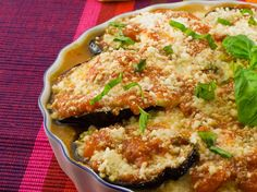 Traditional Italian Roasted Eggplant Parmigiana (Parmigiana di Melanzane al Forno) | Enjoy this authentic Italian recipe from our kitchen to yours. Buon Appetito!