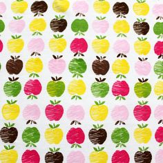 Vintage Apple Rows Cotton Jersey Knit Fabric