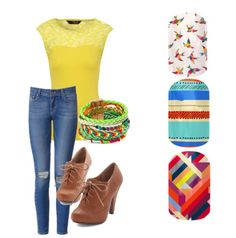 Ready for warm weather!  Yellow and bright colors, love this shirt!!!