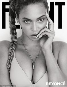 Work it: Beyoncé strikes a pose for the new cover of the mag , stripping down to a nude bra | Daily Mail Online