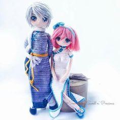 Amigurumi manga style dolls. (Inspiration).