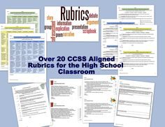 If creating rubrics makes your eyes cross, this bundle of 26 rubrics for high school English teachers will make you smile. Convenient for backward designing assignments. $